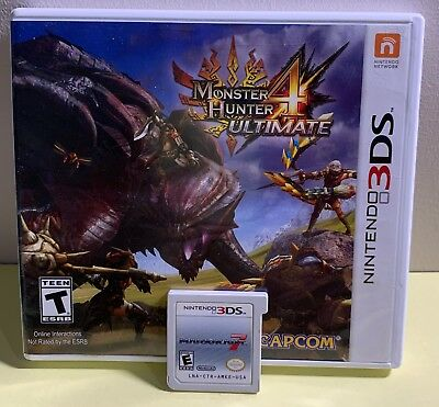 2x Great Condition! Nintendo 3DS Games Monster Hunter Ultimate 4 + Mario Kart 7