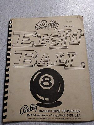 (6) Bally pinball Instructions manuals