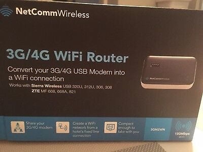 NetComm Wireless M2 3GM2WN 4G/3G WiFi Router For USB Modems