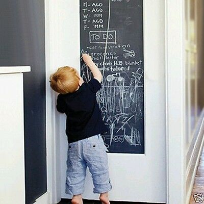 Kids DIY Blackboard Removable Vinyl Wall Sticker Chalkboard Decal Chalk Board WL