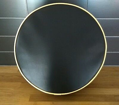 Plain Black/ Yellow piping Scooter Wheel Cover (other colours available)