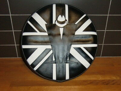Madness Black White Union Flag Scooter Wheel Cover