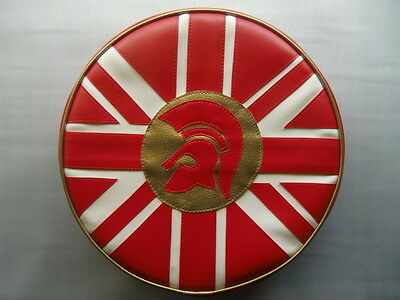 Trojan UJ GOLD/RED/CREAM Scooter Wheel Cover