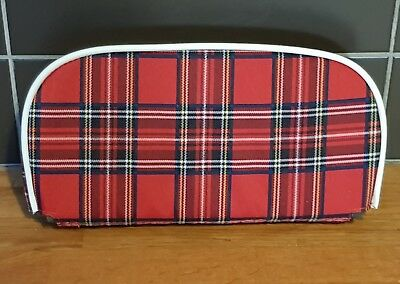 Red tartan Scooter Back Rest Cover (Purse Style)