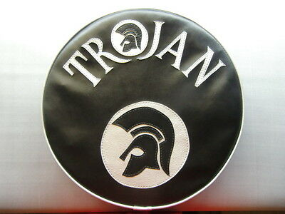 Black/Silver Trojan and Trojan Head Scooter Scooter Wheel Cover
