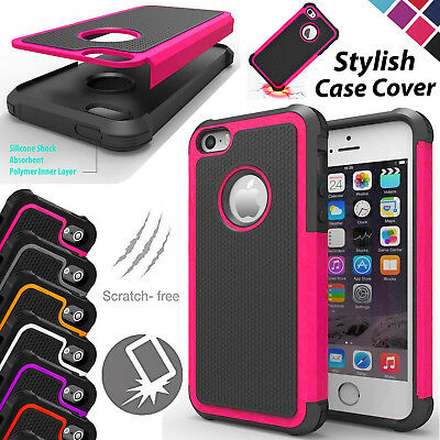 Anti-Shock Dual Layer Protection Case Workman Hybrid Cover For iPhone Mobiles