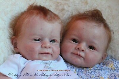 Marc and Mary twin reborn doll kits by Olga Auer
