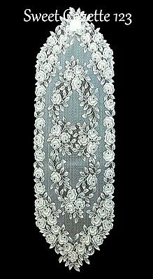 "Heritage Lace ECRU Runner TEA ROSE 14"" X 48"" New with Tags"
