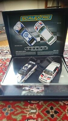 "Scalextric  Set:  "" Legends  mit Ford Sierra RS500 + BMW E30  Ref.  C3693A"