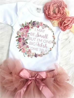 AU Princess Newborn Toddler Baby Girl Romper Jumpsuit Tutu Skirt Dress Outfits