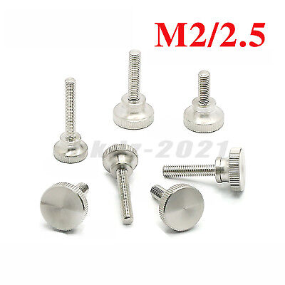 M2/M2.5 PC Computer Case High Knurled Thumb Screw Hand Grip Knob Bolt Stainless