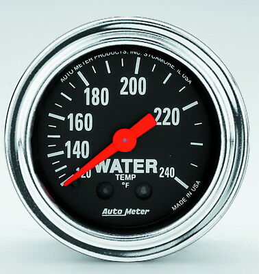 AutoMeter 2433 Traditional Gauge Water Temperature