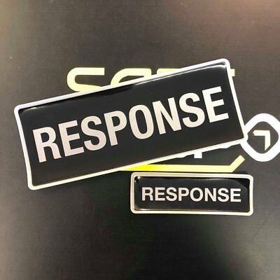Encapsulated  Reflective RESPONSE Badge SET 250mm Emergency Rescue security door