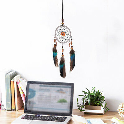 Dream Catcher With Feathers Wall Hanging Decoration Decor Bead Ornament Gift New