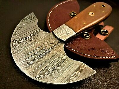 Handmade Damascus Steel Half Head Leather Cutting-Saddler-Skiving Tool-LC1