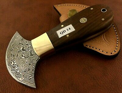 Handmade Damascus Steel Saddler Leather Cutting Tool-QD14