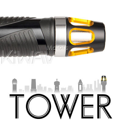 Magazi pair gold Tower aluminum balance plugs w/ silver base for road bike