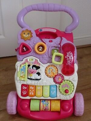 Vtech First Steps Baby Walker Pink & Purple Excellent Clean Condition