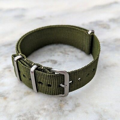 Nylon NATO Watch Strap 18mm/20mm/22mm - Army Green