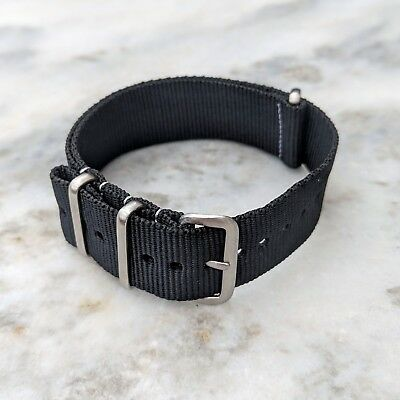 Nylon NATO Watch Strap 18mm/20mm/22mm - Black