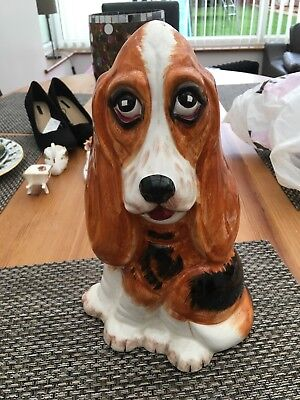 """Collectable Price Kensington Fred Bassett Hound Pottery Fireside Dog 12"""" Tall"""