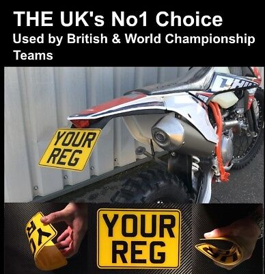 """7x5 Flexi Number Plate Off Road Trials Enduro Plate Flexible Plate 7""""x5"""" Ktm"""