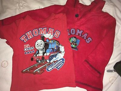 Thomas Train Red T Shirt And Fleece Jumper M&co Red Age 18-24 Months