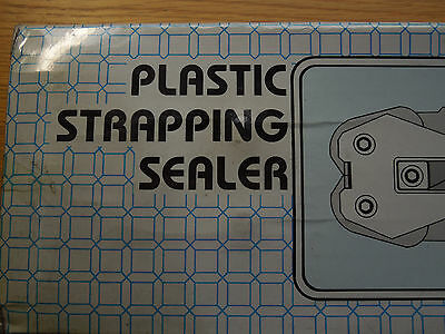 "12MM 1/2"" Plastic Strapping sealer for metal Crimp Buckle clips banding etc new"