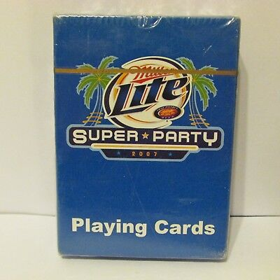 Miller Beer Advertising Playing Cards Super Party Sealed 2007
