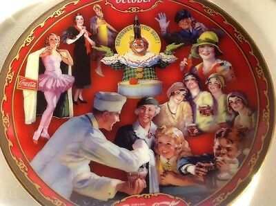 Coke COCA-COLA Calendar Days Plate October 2000 Soda Jerk Clown Decorative Plate