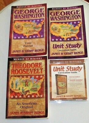 HEROES OF HISTORY LOT OF 7, 4 with Curriculum Guide VG Condition