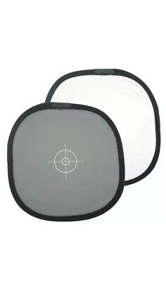 "12""/30cm 2-Sided Collapsible White Balance Disc 18% Gray Panel+Target Reflector"