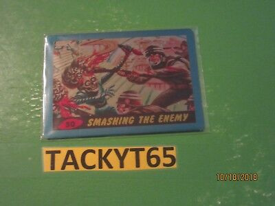 "2015 Mars Attacks Occupation Original1962 Series Metal Card #50 ""Smashing The En"