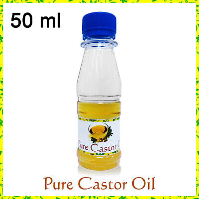 CASTOR OIL 100% Pure 50ml Cold Pressed Hair Skin Eyelashes Eyebrows