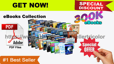 300000+ PDF eBooks Package Collection With Master Resell Rights + Free Shipping