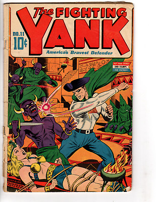 Fighting Yank # 11 (GD- 1.8) 1945,Schomburg GGA cover