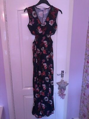 ASOS Maternity Navy Floral Maxi Dress Size 18 Brand New