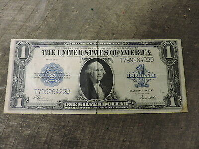 Antique 1923 Series $1 Dollar Silver Certificate, Large Size, Nice, (DBC)