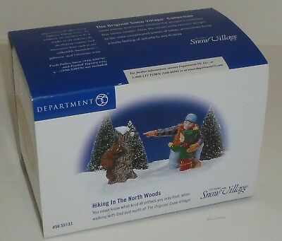 Dept 56 Snow Village - Hiking In The North Woods #55133