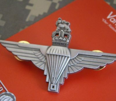 World War Ww2 British Uk Airborne Royal Paratrooper Badge Insignia Cap Pin Gray