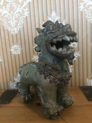 Antique Chinthe Ceramic Statue From Burma, Mythical Buddhist Lion, Protector