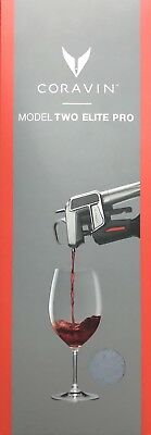 Coravin Model Two  ELITE PRO Wine Pouring System In Silver