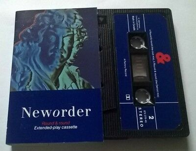 New Order * Round & Round * Rare 5 Trk Mix Cassette 1989 Factory Made In Canada