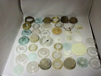 lot of 44 assorted fruit jar lids various types and conditions