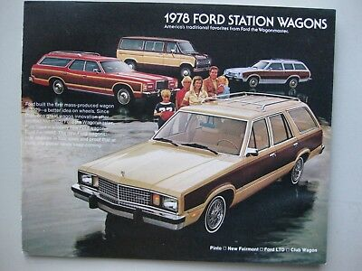 Ford Station Wagon  brochure Prospekt 16 pages English text 1978