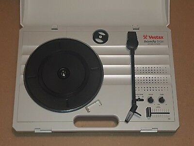 Vestax Handy Trax Portable Vinyl Turntable with variable speeds