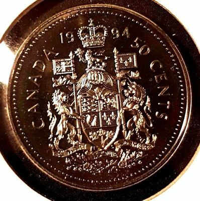 1994 50 Cent Canada Proof - Heavy Cameo - From Mint Set