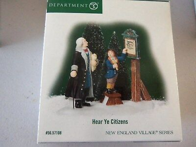 Department 56, New England or Williamsburg, Hear Ye Citizens