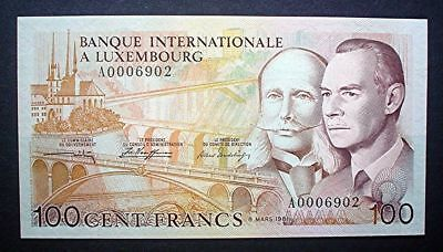 Luxembourg ~ 100 Francs 1981