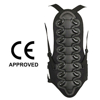 Motorcycle Back Protector Motocross Skating Snow Body Armour Guard Black, M